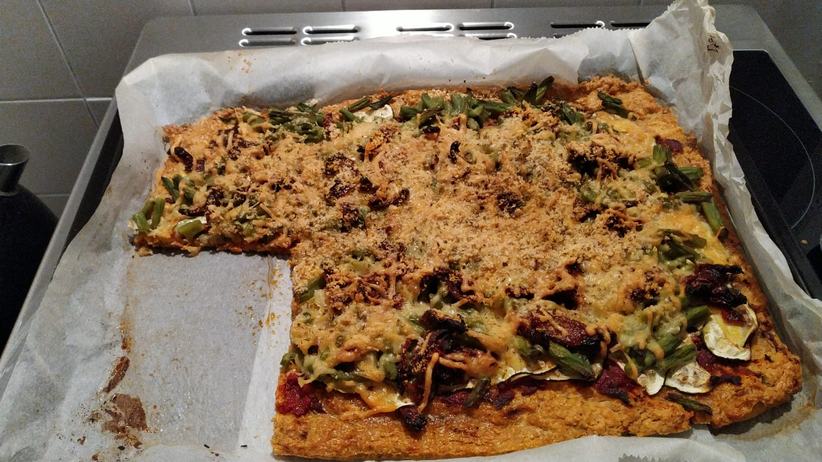 Je bekijkt nu Havermout pizza met veel groente